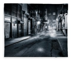 Dark Nyc Fleece Blanket