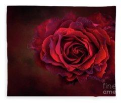 Dark Red Fleece Blanket