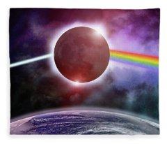 Dark Side Of The Eclipse Fleece Blanket