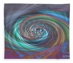 Dark Swirls Fleece Blanket