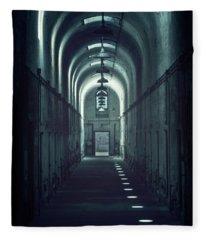 Dark Tunnels Fleece Blanket