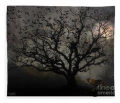 Dark Valley Fleece Blanket