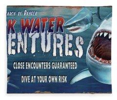 Dark Water Adventure Fleece Blanket