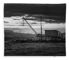 Dark Waters Fleece Blanket