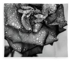 Dark Wet Rose Fleece Blanket