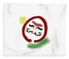 Daruma Fleece Blanket