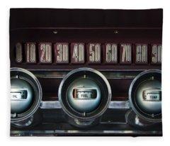 Dashboard Detail -1966 Ford Thunderbird Fleece Blanket