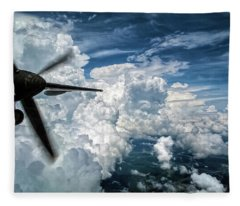 Dashing Through The Line Hdr Fleece Blanket