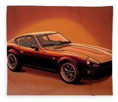 Datsun 240z 1970 Painting Fleece Blanket