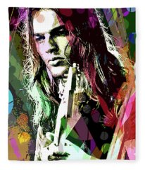 Dave Gilmour Dark Side Fleece Blanket
