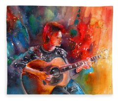David Bowie In Space Oddity Fleece Blanket