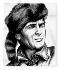 Davy Crockett Fleece Blanket