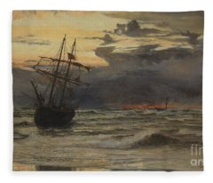 Dawn After The Storm Fleece Blanket