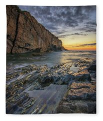 Dawn At Bald Head Cliff Fleece Blanket
