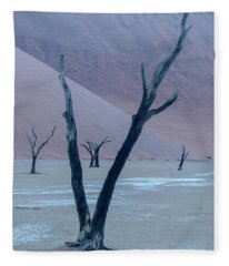 Dawn At Deadvlei - Namibia Fleece Blanket