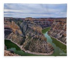Dawn At Devils Overlook Bighorn Canyon Fleece Blanket