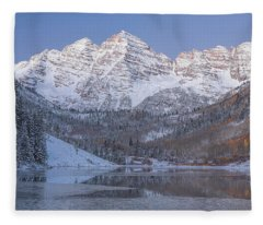 Dawn At Maroon Bells 2 Fleece Blanket