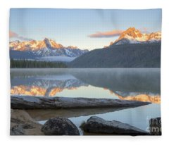 Dawn At Redfish Fleece Blanket