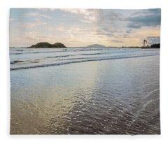 Dawn Binh Hai Beach Fleece Blanket