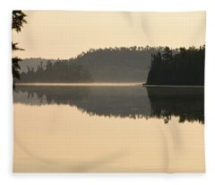 Dawn On Ottertrack Lake Fleece Blanket