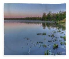 Dawn Over North Bay Fleece Blanket