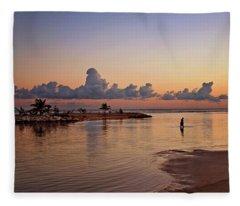 Dawn Reflection Fleece Blanket