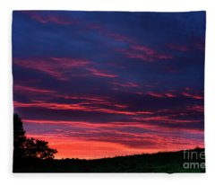 Dawning Of A West Virginia Day Fleece Blanket