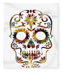Day Of The Dead Fleece Blanket