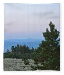 Daybreak On The Mountain Fleece Blanket