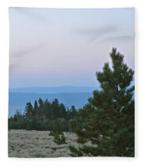 Daybreak On The Mountain Fleece Blanket