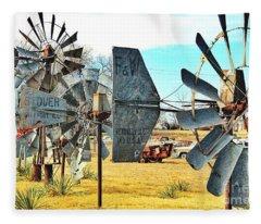 Daylight In The Garden Of Rust And Metal Fleece Blanket