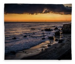 Days End At El Matador Fleece Blanket
