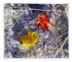 Days Of Autumn 5 Fleece Blanket