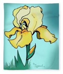 Daytime Iris Fleece Blanket
