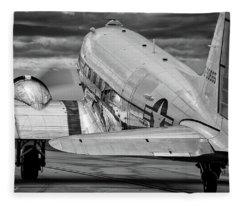 Dc3 Taxiing For Departure Fleece Blanket