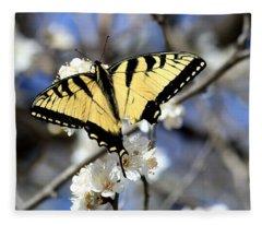 De-tailed Swallowtail Fleece Blanket