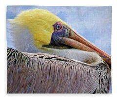 Dead Lake Pelican Fleece Blanket
