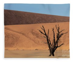 Dead Vlei Awakens - Namibia, Africa Fleece Blanket