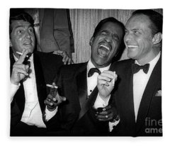Dean Martin, Sammy Davis Jr. And Frank Sinatra Laughing Fleece Blanket