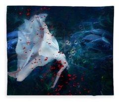 Death Of Ophelia Fleece Blanket