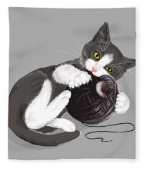 Death Star Kitty Fleece Blanket