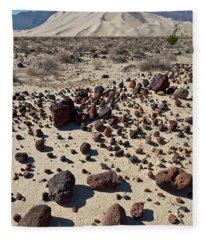Death Valley Dunes And Rocks  Fleece Blanket