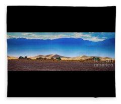 Death Valley Dunes Fleece Blanket