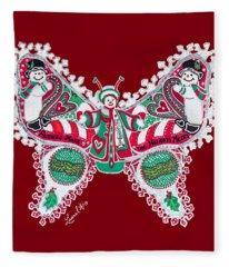 December Butterfly Fleece Blanket