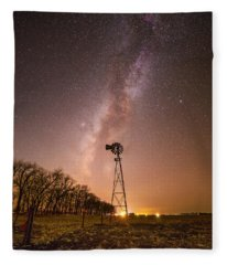 December Night  Fleece Blanket