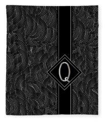 Deco Jazz Swing Monogram ...letter Q Fleece Blanket