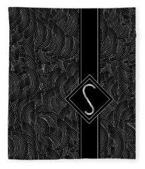 Deco Jazz Swing Monogram ...letter S Fleece Blanket