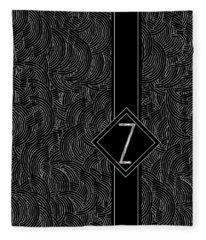 Deco Jazz Swing Monogram ...letter Z Fleece Blanket
