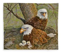 Decorah Eagle Family Fleece Blanket