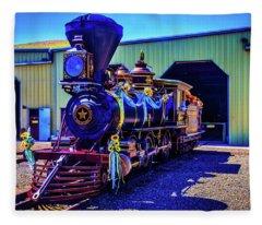 Decorated Glenbrook Locomotive Fleece Blanket